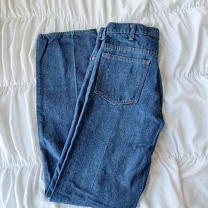 Vintage 70s Sears Thumbs Up Button Jeans 33  Long